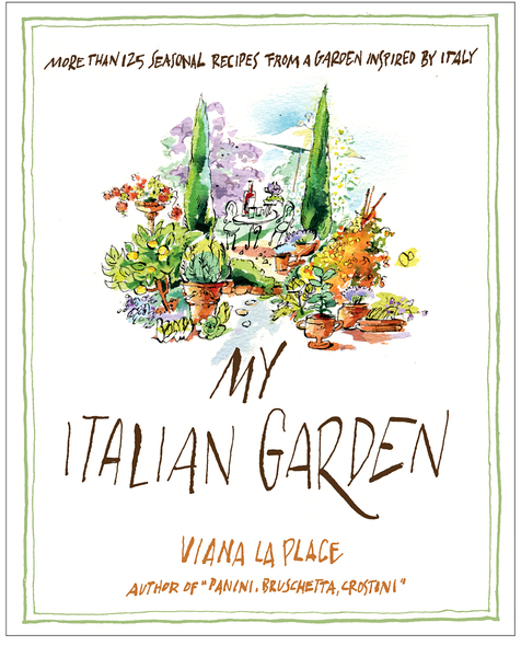 "Cover of cook book, ""My Italian Garden"", Random House Pub."