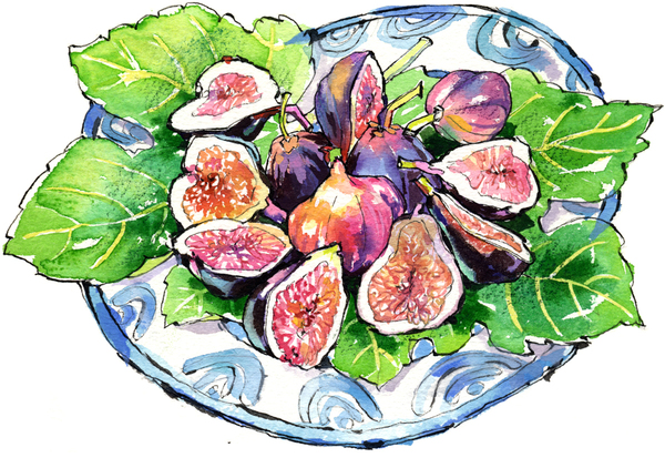 "Fancy Plate & Cut Figs, from ""My Italian Garden"""