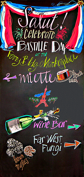 Bastille Day Celebration Chalkboard