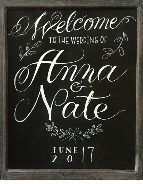 Anna&Nate's Welcome Wedding Chalkboard