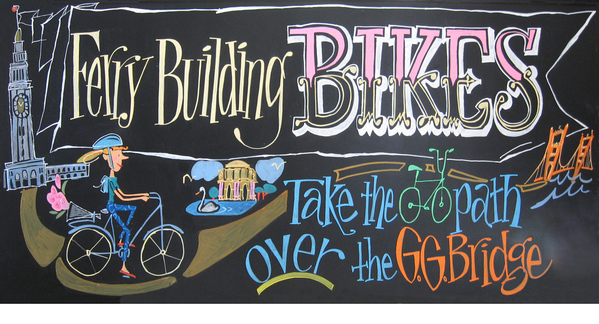 Bicycle Rentals Chalkboard