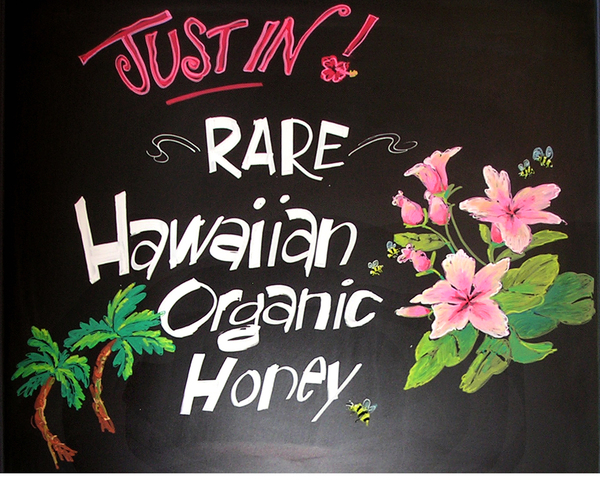 Chalk Board for Hawaiian Honey